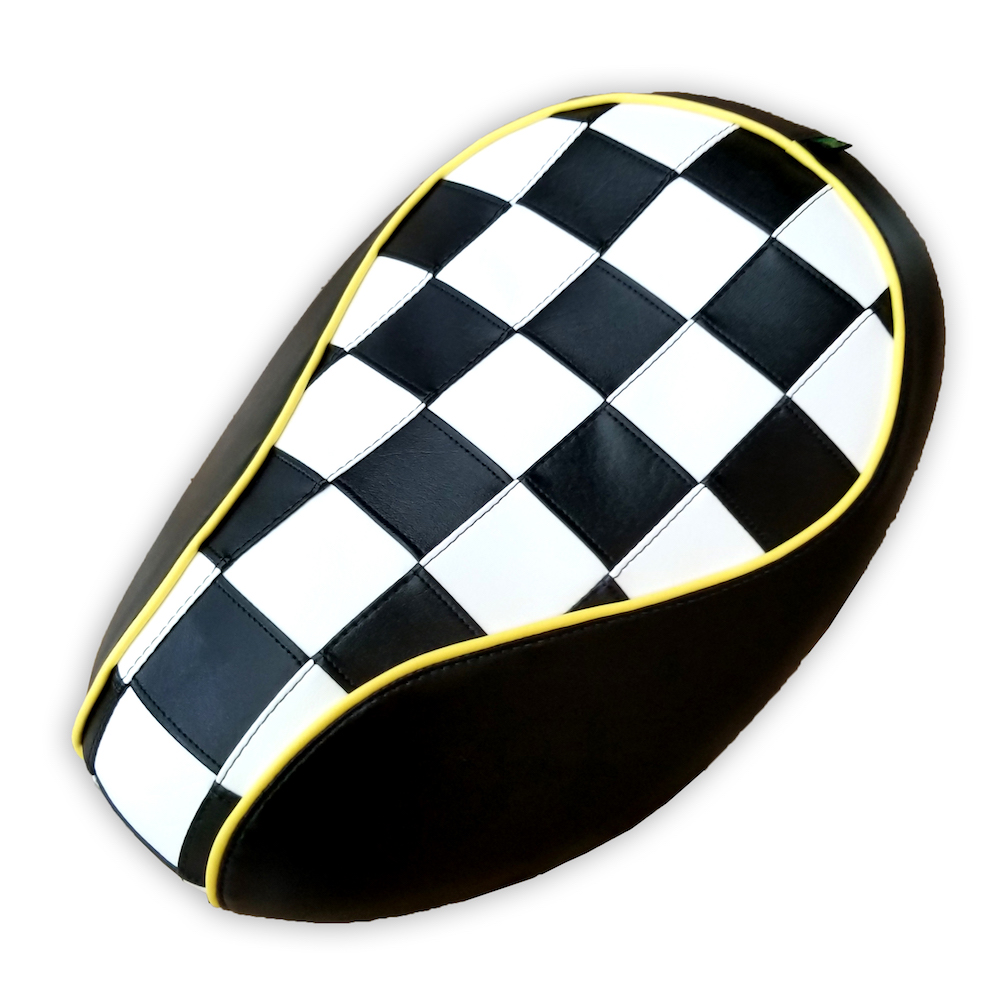 Honda Metropolitan CH50 Checkers Scooter Seat Cover Black White